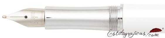 Plumín de pluma estilográfica Intensity laca blanca y cromo de Sheaffer