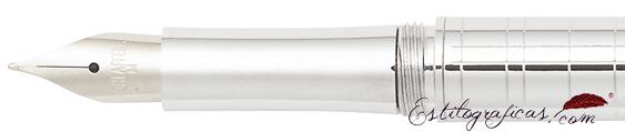 Plumín de pluma estilográfica Intensity cromada cincelada Médici de Sheaffer