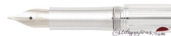 Plumín de pluma estilográfica Intensity cromo acanalado de Sheaffer