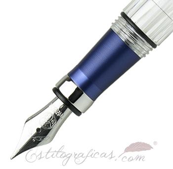 Plumín acero Estilográfica TWSBI Diamond 580 AL R Navy Blue