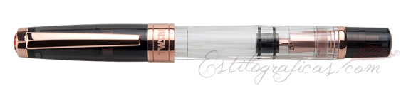 Estilográfica TWSBI Diamond 580 Smoke Rose Gold II cerrada