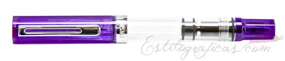 Estilográfica TWSBI Eco Transparent Purple Vista