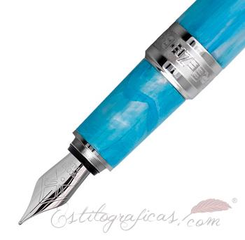 Detalle Pluma Estilográfica Visconti Breeze Blueberry