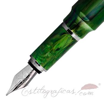 Estilográfica Visconti Mirage Emerald Detalle