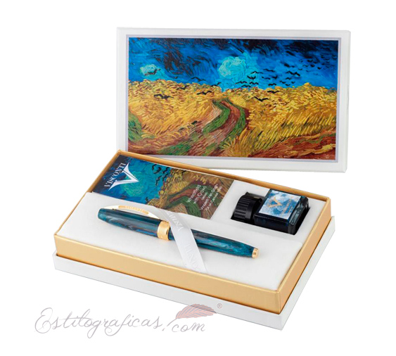 Estilográfica Visconti Van Gogh Wheatfield With Crows Estuche