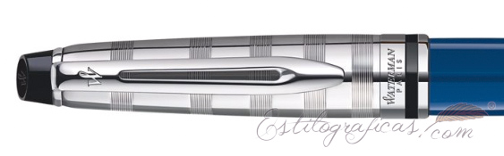 Pluma estilográfica Waterman Expert Deluxe Blue CT capuchón
