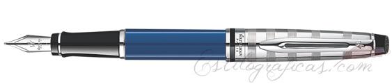 Pluma estilográfica Waterman Expert Deluxe Blue CT