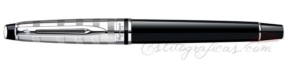 Pluma estilográfica Waterman Expert Deluxe Black CT cerrada