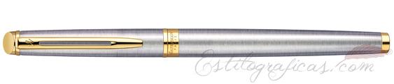 Pluma estilográfica Waterman Hemisphere Stainless Steel GT cerrada
