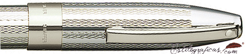 Pluma estilográfica en plata de ley, con gabado grano de cebada de la colección Legacy Heritage de Sheaffer