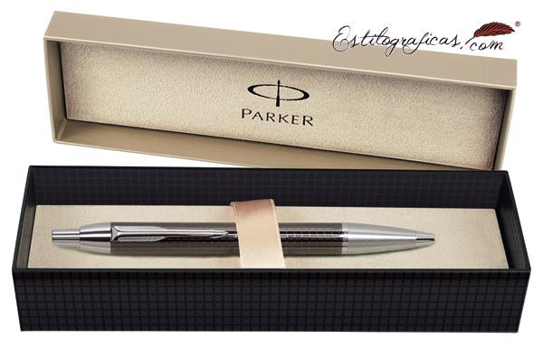 Estuche del bolígrafo Parker IM Premium Chiselled Carbón