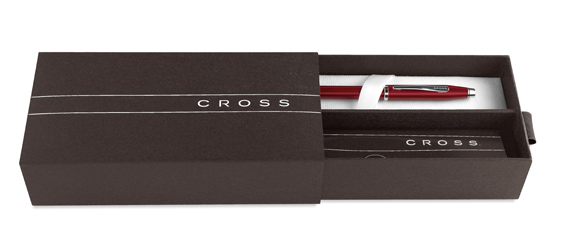 Estuche Premium para bolígrafo Cross Click Cromo Satinado