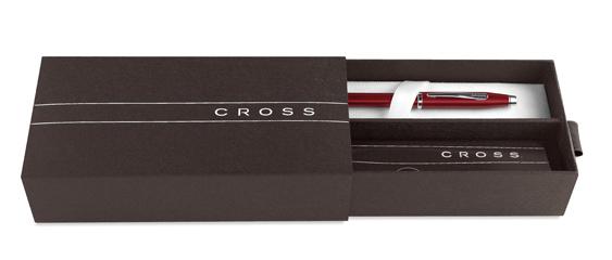Estuche Premium para bolígrafo Cross Contour Azul y Cromo