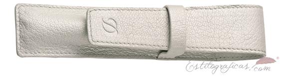 Estuche de cuero granulado negro ST Dupont Liberté Caprice para una estilográfica 092011