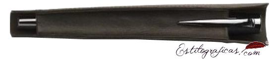 Funda de piel marrón Faber-Castell para pluma o roller