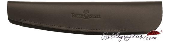 Estuche Faber-Castell de cuero marrón para una estilográfica o rollerball 188353
