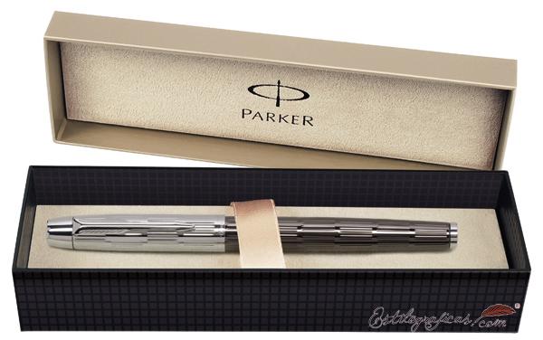 Estuche de presentación del rollerball Parker IM Premium Chiselled Bicolor