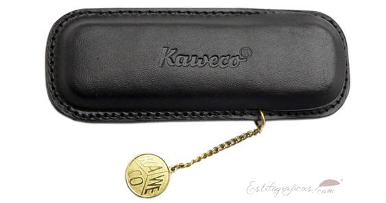Estuche de piel negro con moneda para pluma Kaweco Sport KA Leather