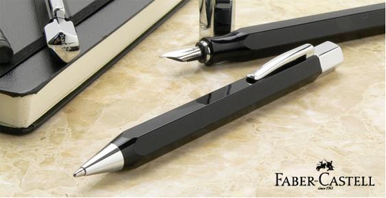 Bolígrafo Faber-Castell Ondoro Resina Negra