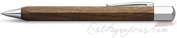 Bolígrafo Faber-Castell Ondoro Madera de Roble - Smoked Oak 147508