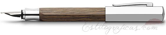 Pluma Estilográfica Faber-Castell Ondoro Madera de Roble 147580