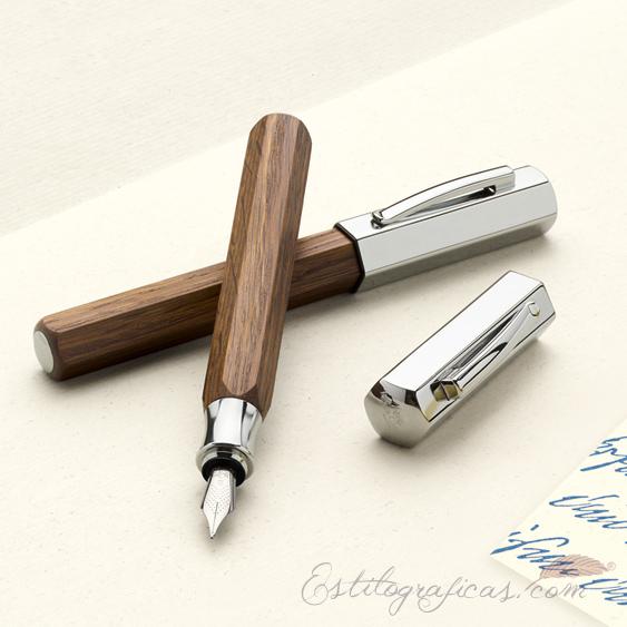 Estilográfica Faber-Castell Ondoro Smoked Oak