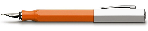 Estilográfica Faber-Castell Ondoro Resina Naranja 147590
