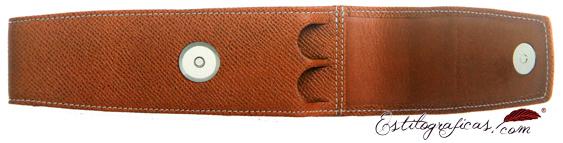Funda de piel repujada marrón para dos piezas Graf Von Faber Castell 118822