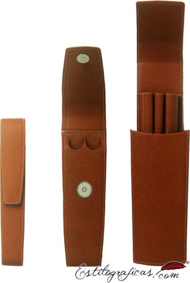 Colección de fundas de piel marrón estándar para 1, 2 y 3 piezas