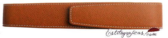 Funda de piel repujada marrón Graf Von Faber Castell 118826