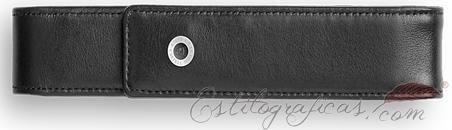 Estuche de piel lisa negra individual Graf Von Faber Castel 118843