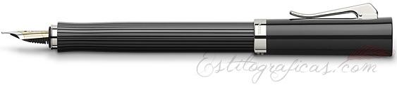 Pluma Estilográfica Graf von Faber-Castell Intuition Black Acanalada