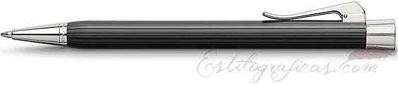 Bolígrafo Graf von Faber-Castell Intuition Black Acanalada