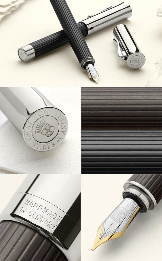 Detalles Estilográfica Graf von Faber-Castell Intuition Madera Grenadille