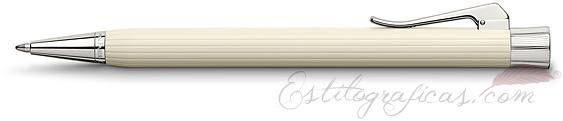 Bolígrafo Graf von Faber-Castell Intuition Marfil Acanalada