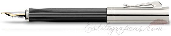 Pluma Estilográfica Graf von Faber-Castell Intuition Madera de Ébano y Platino