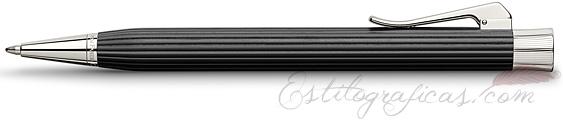Bolígrafo Graf von Faber-Castell Intuition Madera de Ébano y Platino