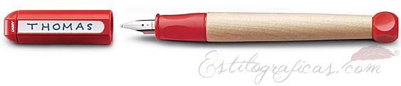 Pluma Estilográfica Lamy abc - Rojo, para niños