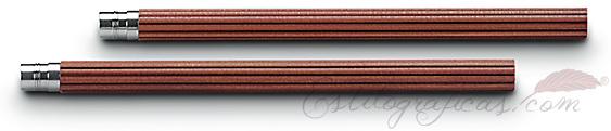 5 lápices cortos de cedro marrón para Lápiz Perfecto