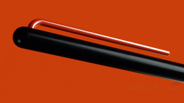 Bolígrafo grafeeX naranja con fondo naranja