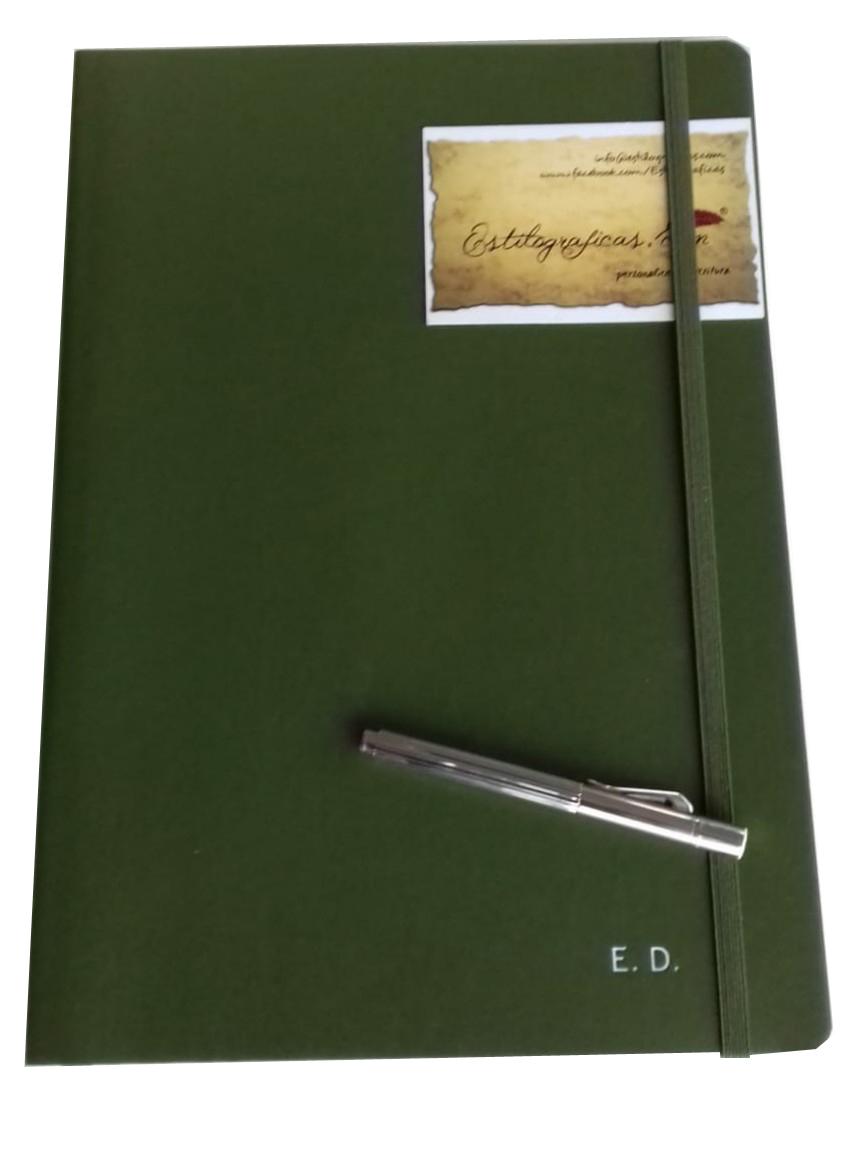Cuadernos con logotipo de empresa.