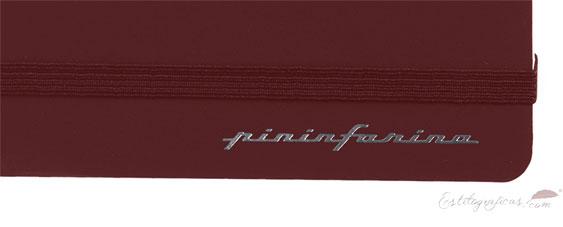 Libreta de papel de piedra Pininfarina con tapas rojas PNF1421PLRE