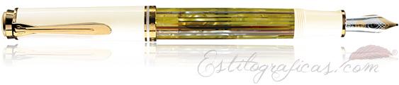 Estilográfica Souverän M 400 Tortuga Blanco