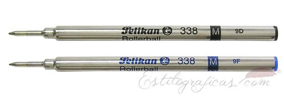 Recambio Roller Pelikan 338 azul y negro
