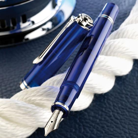 Bolígrafo Souverän K605 Azul Marino Transparente