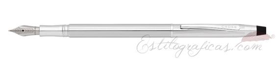 Pluma estilográfica Cross Classic Century Cromada Brillante Icy Chrome nueva en 2013