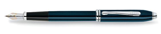 Pluma estilográfica Cross Townsend con lacado azul cuarzo