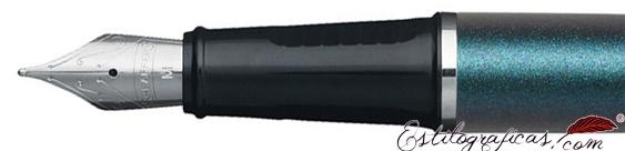 Plumilla de pluma estilográfica Prelude laca azul y detalles en níquel de Sheaffer