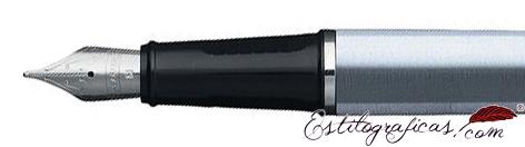 Plumilla de pluma estilográfica Prelude cromo cepillado de Sheaffer