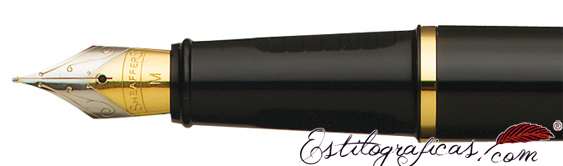 Plumilla de pluma estilográfica Prelude  negra y paladio GT de Sheaffer